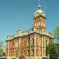 Adams County courthouse in Decatur, Indiana