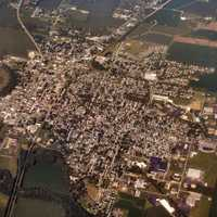 Aerial View of Rushville, Indiana