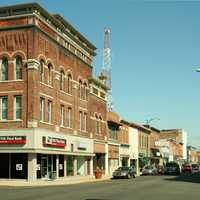 Decatur downtown in 2006 in Indiana