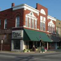 Downtown historic district in Boonville, Indiana