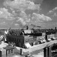 Lebanon black and white cityview in Indiana