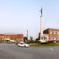 Traffic Circle in Downtown Angola, Indiana