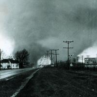 Twin Tornados hitting Goshen in 1965, Indiana.