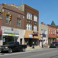 Whiting's business district in Indiana