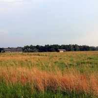 Prarie and village at Prophetstown State Park, Indiana
