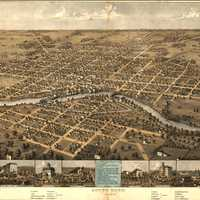 View of South Bend in 1866 in Indiana