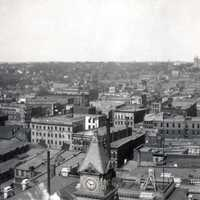 Panorama of Des Moines, Iowa in 1903