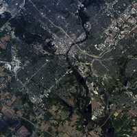 Satellite Image of Des Moines, Iowa