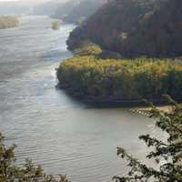 Clearer View of River mouth at Effigy Mounds Iowa