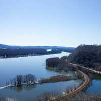 Landscape of the Wide Mississippi at Effigy Mounds, Iowa