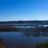 Landscape across the River at Effigy Mounds National Memorial, Iowa