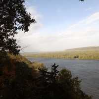 Scenic View of River at Effigy Mounds, Iowa