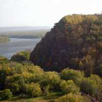 Scenic view of Mississippi at Effigy Mounds, Iowa