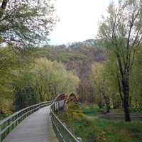 Bridge on Hiking Trail at Effigy Mounds, Iowa