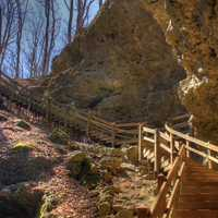 Walkway by the Cave at Maquoketa Caves State Park, Iowa
