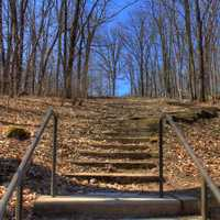 Steps Up at Maquoketa Caves State Park, Iowa
