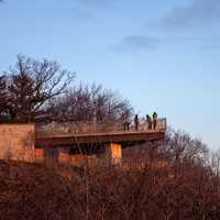 People on the Balcony watching the sunrise at Pikes Peak State Park, Iowa