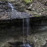 Small Trickle from Bridal Veil Falls at Pikes Peak State Park, Iowa