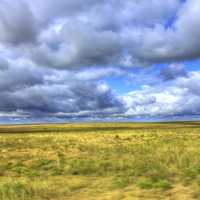 Clouds over the plains at Mount Sunflower, Kansas
