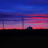 Dawn at the roadside at Mount Sunflower, Kansas