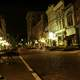 Downtown Frankfort at night in Kentucky