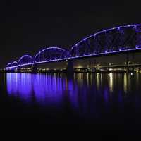 Bridge over the Water at night in Louisville, Kentucky
