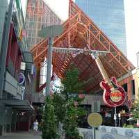 Entrance to the Fourth Street Live in Louisville, Kentucky