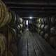 Barrels of whiskey in the cellar at Buffalo Trace Distillery, Kentucky