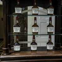 Bottles of Maker's Mark Whiskey at the visitor's center