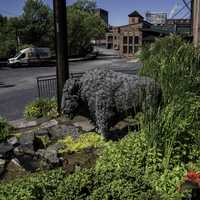 Buffalo Statue at Buffalo Trace Distillery, Kentucky