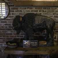 Buffalo Statue in the visitor's center at Buffalo Trace Distillery