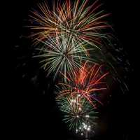 Fireworks in the Sky bursting in Owensboro, Kentucky