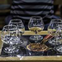 Five Taste Testing Glasses at Maker's Mark Distillery