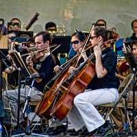 Orchestra with violin players in Owensboro, Kentucky