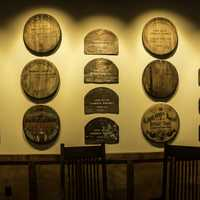 Plaques and awards at Buffalo Trace Distillery, Kentucky