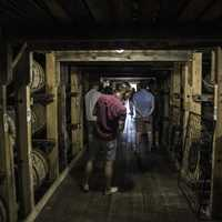 Tourists in Cellar at Maker's Mark