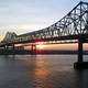 Bridge across the Mississippi River in New Orleans, Louisiana