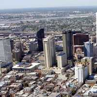 Central Business District from the air, 2007 in New Orleans, Louisiana