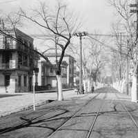 Esplanade Avenue at Burgundy Street in New Orleans, Louisiana in 1900