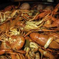 Red Crawfish Dinner in New Orleans, Louisiana