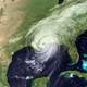 Satellite Image of Hurricane Katrina nearing New Orleans, Louisiana