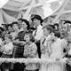 Audience watches a magician perform at the Louisiana State Fair in Donaldsonville in 1938