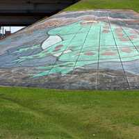 Big Frog Mural on the Ground in Rayne, Louisiana
