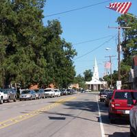 Downtown Carencro in Louisiana street