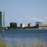Downtown Lake Charles, with Capital One Tower to the left in Louisiana