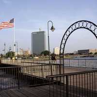 Lake Charles Boardwalk in Louisiana