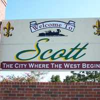 Scott Entrance Sign in Louisiana