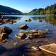 Landscape and scenic of mountains and lake at Acadia National Park, Maine