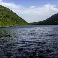 Landscape at Bubble Pond in Acadia National Park, Maine