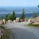 Landscape view from Mountain road at Acadia National Park, Maine